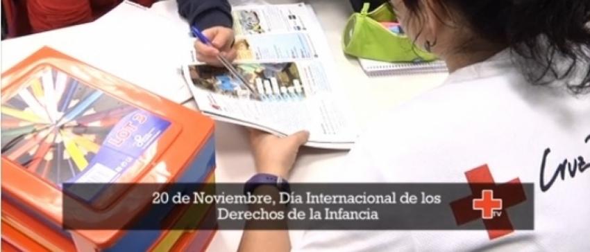 """Imagen de archivo de la campaña de """"Pobreza Infantil"""" de Cruz Roja Española"""