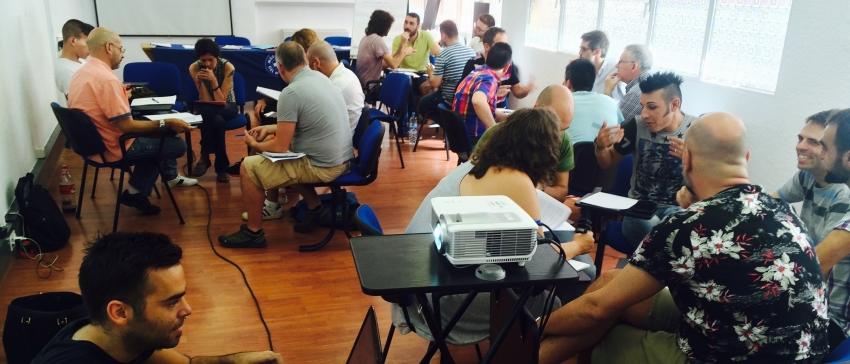"""Fotografía CESIDA: """"Proyecto de formación del Voluntariado"""" financiado mediante el IRPF."""