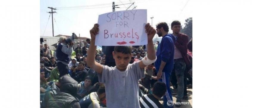 Fotografía: FEDJA GRULOVIC | REUTERS / Un niño sirio muestra su pesar por los atentados
