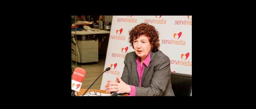 Estrella Rodríguez, Presidenta de la Plataforma de Acción Social, durante la entrevista.