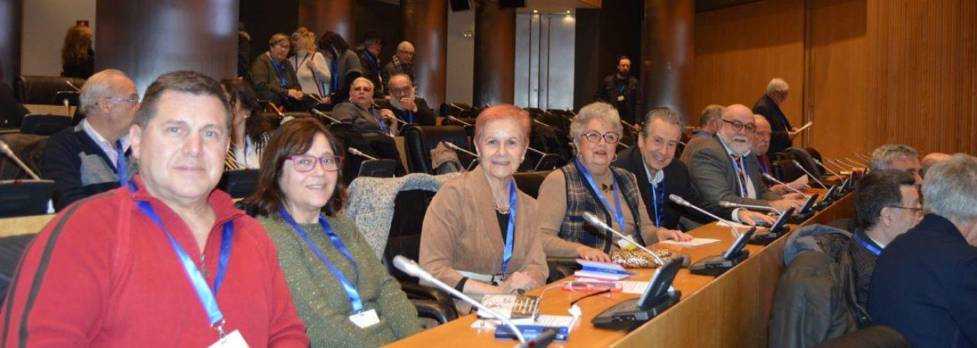 Paca Tricio, presidenta de UDP, la tercera a la izquierda de la imagen