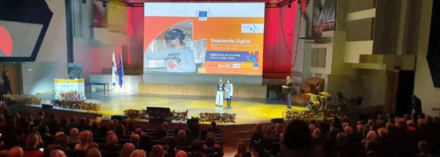 El 17 de octubre tuvo lugar en Helsinki la Ceremonia de entrega de los Premios VET que otorga el Fondo Social Europeo / Imagen: FSG